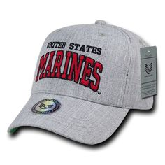 Gray United States Marines USMC OFFICIALLY LICENSED Baseball Cap Hat 6f5dc6a94c23