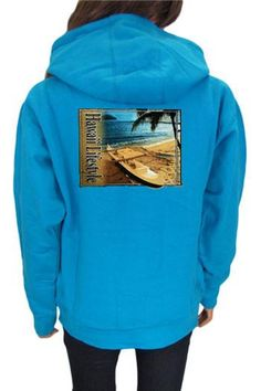 Women's Hoodie Sweatshirt - Island Lifestyle - Feel the warmth of Aloha in this tropical hoodie sweatshirt.  $38.95