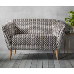 Wayfair Custom sofas - this one is the Holborn collection, and what a collection it is (a chair, a sofa, two choices of fabric). 125cm would fit my kitchen nicely...