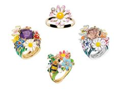 April showers bring May flowers! Or fabulous enamel rings from Dior: Diorette rings by Dior. $1,950+, Dior boutiques, or 800-929-dior. http://vnty.fr/IijjrP