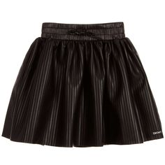 DKNY Girls Stripy Black Skirt at Childrensalon.com