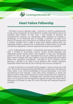 Echocardiography Fellowship Personal Statement  Heart Failure