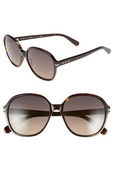 MARC JACOBS 57mm Round Sunglasses | Nordstrom