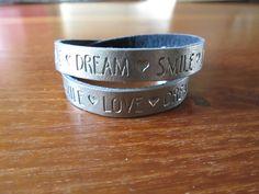 Quote armband metallic zilver 2