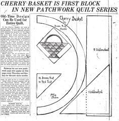 Cherry Basket Quilt Pattern