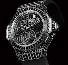 Now utilizing only black diamonds, Hublot created the ultimate, $1000000 million luxury watch – Black Caviar Bang.