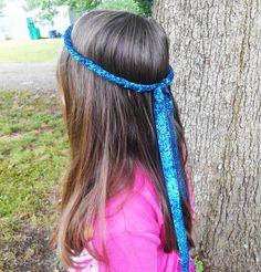 Renaissance Circlet, blue circlet, Elven Circlet, medieval crown, wedding tiara, elvish headpiece, maiden crown, elf circlet