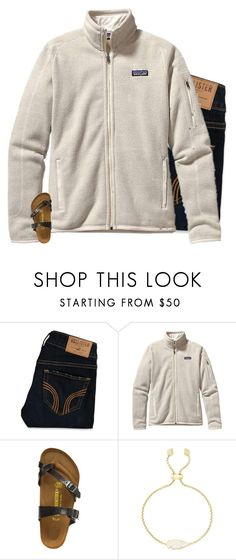 """""""genuinely happy"""" by preppin ❤ liked on Polyvore featuring Hollister Co., Patagonia, Birkenstock, Kendra Scott and River Island"""