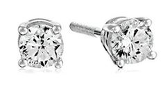 Certified White Gold Diamond with Screw Back and Post Stud Earrings Look Good Feel Good, One With Nature, Christmas Gifts For Her, Gifts For Boys, White Gold Diamonds, Coloring Books, Stud Earrings, Engagement Rings, Diving