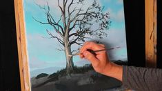 How to paint a more rounded looking tree - painting tips and tricks, Tim Gagnon - YouTube