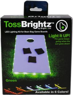 Toss Brightz Green - The game keeps going when the sun goes down!