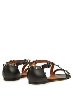 Buy Valentino Women's Black Rockstud Cross-strap Leather Sandals, starting at $566. Similar products also available. SALE now on!