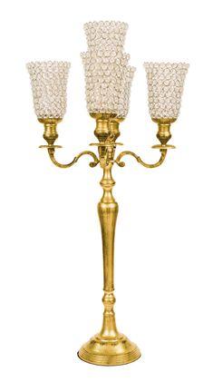 Candelabri 5 braccia oro satinato con bugie Swarovski. Allestimenti per eventi e matrimoni 2016, Preludio wedding inspiration.