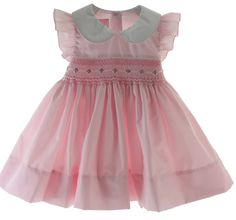 Hiccups Childrens Boutique - Girls Pink Smocked Portrait Dress with White Collar, $55.00 (http://www.hiccupschildrensboutique.com/girls-pink-smocked-portrait-dress-with-white-collar/)