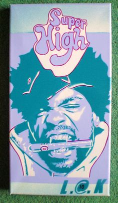 method man painting in purple on by AbstractGraffitiShop on Etsy, $49.00