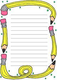 Resultado de imagen para bordes infantiles educativos para colorear Borders And Frames, Borders For Paper, School Border, Page Borders Design, School Clipart, School Frame, School Themes, Binder Covers, Writing Paper