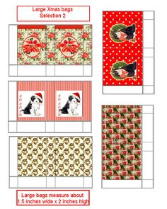 Christmas Boxes Color Printed Sheet 512a  Dollhouse Miniature