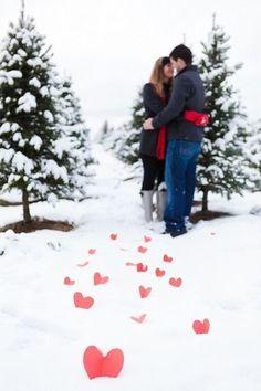 Winter Engagement Photo - Engagement Photo Ideas That Won't Make You Cringe…