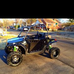 Polaris RZR with Pro Armor doors... and it's all hers! :)