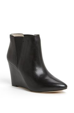 pointy wedge bootie