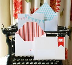 Free printable double sided envelope template.