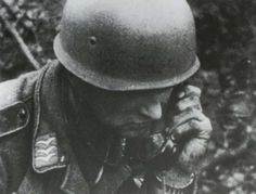 A Fallschirmjager Obergefreiter communicates with his battalion during operations at Corinth Canal on the of April Pin by Paolo Marzioli Luftwaffe, Paratrooper, Narvik, Corinth Canal, Warring States Period, Akashic Records, Ww2 Photos, Military Pictures, Korean War