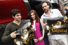 David, Bitsie and Silas with their official #Grimm posters