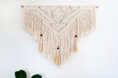 Macrame Wall Hanging 'Inferno' by PrettyKooky on Etsy https://www.etsy.com/listing/479600417/macrame-wall-hanging-inferno