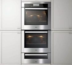 Best Double Ovens - Wolf vs. Miele vs. Viking - Appliance Buyer's Guide Commercial Ovens, Commercial Kitchen, Best Double Oven, Double Ovens, Viking Appliances, Kitchen Appliances, Kitchens, Miele Kitchen, Kitchen Must Haves