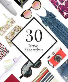 30 Travel Essentials You Can't Live Without #refinery29  http://www.refinery29.com/travel-accessories