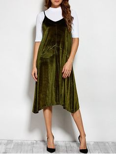 Long dress green ketchup