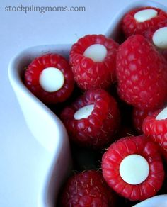 Valentine Berries are a great healthy treat and perfect for Valentine's Day!