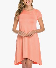 Another great find on #zulily! Peach Cap-Sleeve T-Shirt Dress #zulilyfinds