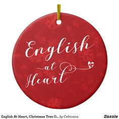 English At Heart, Christmas Tree Ornament, Holiday Decorations. We have a wide range of ancestry, city and country design Christmas and holiday ornaments available! #england