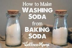 Hottest Pic Best No Cost How to Make Washing Soda from Baking Soda Popular Home cleaning . Strategies Home cleaning or making cleaning will look back on a long, very nearly Convention in the n Deep Cleaning Tips, Cleaning Recipes, House Cleaning Tips, Natural Cleaning Products, Cleaning Hacks, Household Products, Green Cleaning, Household Tips, Natural Products