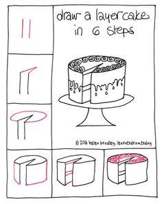 Learn to Draw a Cake in 6 Steps… : Learn To Draw