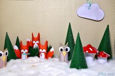 ": DIY: Adventskalender ""Wald"" selber basteln - Teil Tannen, Fliegenpilze und Wolken Need some for your calendar ? I prepared a lot of for this one, so it's really easy! Christmas Recipes For Kids, Kids Christmas, Xmas, Christmas Ornaments, Crochet Hair Styles, Just Do It, Advent Calendar, Crafts For Kids, Barn"
