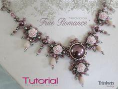Tutorial for beadwoven necklace 'True Romance' von TrinketsBeadwork