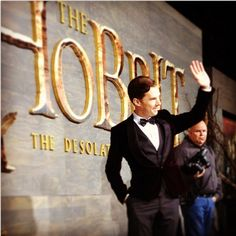 Benedict Cumberbatch. The king under the mountain at The Hobbit Premiere in L.A.