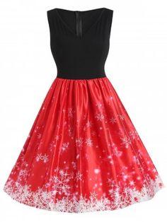 Plus Size Vintage Snowflake Christmas Dress - Red - Size L - Plus Size Vintage Snowflake Christmas Dress – Red – – Women's Clothing, Plus Size Women's Clothing # Source by - Plus Size Vintage Dresses, Plus Size Womens Clothing, Size 16 Dresses, Dresses For Teens, Plus Size Outfits, Plus Size Fashion, Dressy Dresses, Linen Dresses, Party Dresses