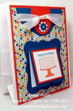 Make a Cake Birthday Bag by scrapnforfun - Cards and Paper Crafts at Splitcoaststampers