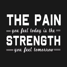Afbeeldingsresultaat voor the pain you feel today is the strength