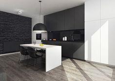 Ambiente de contrastes en blanco y negro - Cocinas con estilo