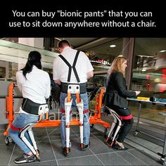 Now, You can use your pant as a chair. #Strange_idea