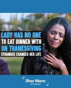 Lady Has No One To Eat Dinner With On Thanksgiving, Stranger Changes Her Life | Dhar Mann. One small act of kindness can really make a big difference. For more motivational videos, visit DharMann.com #DharMann Life Tips, Life Hacks, Small Acts Of Kindness, Motivational Videos, Acting, Relationships, Thanksgiving, Change, Eat