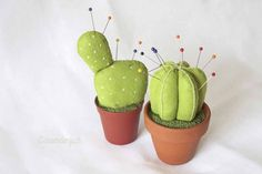 Filzkaktus (Felt Cactus) pin cushion tutorial || use google translate