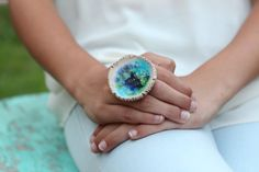 Ceramic jewelry OOAK ceramic ring Statement ring by orlydesign, $32.00