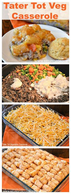 Tater Tot Casserole. Similar to Shepherd's Pie but easier!