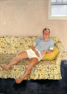 """Frank O'Hara,"" Fairfield Porter, 1957, oil on canvas, 63 7/8 x 45 7/8"", Toledo Museum of Art."