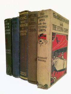 AVIATION Vintage Decorative Books. Set of 5. by VeronicasDesk